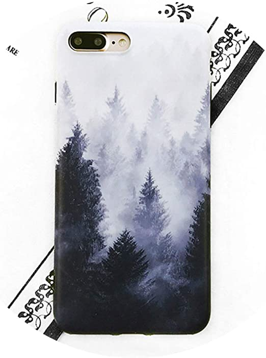 Retro Scenery Mountain Phone Case for iPhone X 6 6S 7 8 Plus Back ...