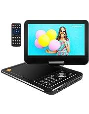 """APEMAN 9.5"""" Lettore DVD Portatile con Schermo Rotante Batteria Ricaricabile Incassato la Batteria Ricaricabile la Carta di SD e USB Formato di Trasmissione Diretta AVI / RMVB / MP3 / JPEG (Nero)"""