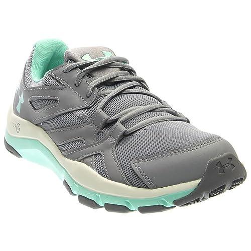 Under Armour Women's UA Strive 6 Steel/White/Crystal Sneaker 7 B (M