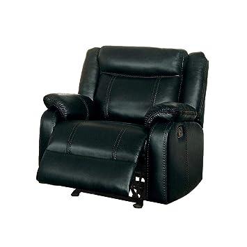 Astonishing Amazon Com Jakes Glider Recliner Chair In Black Airehyde Download Free Architecture Designs Scobabritishbridgeorg