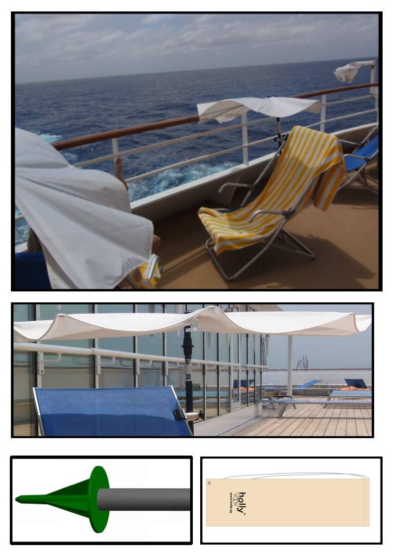 Holly – Balcony – Bianco – Ombrello a Ventosa Come Opzione Adesivo + 360 ° Girevole in Acciaio Inox KONUS per Fissaggio Fino a 40 mm Ø – Made in Bagno TEMBERG First IT  Holly ventaglio Video –
