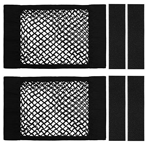 - Kbnian Trunk Storage Net,Car Trunk Back Seat Organizer, Mesh Wall Sticker Organizer Pouch Bag(2 Pack) Black