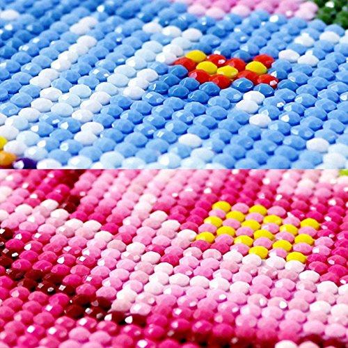 cuadro de punto de cruz bordado lienzo para decoraci/ón del hogar Kit de pintura de diamantes para hacer manualidades con diamantes de imitaci/ón dise/ño de mosaico de rosas rojas