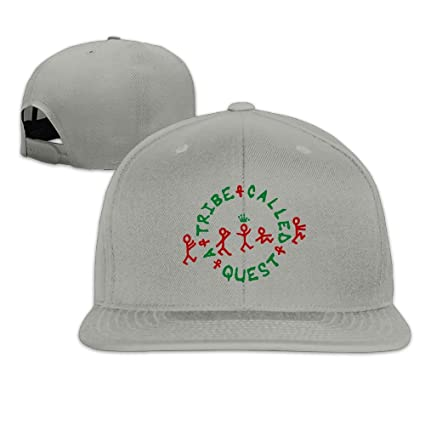 218b884b09e71 Edongquwe A Tribe Called Quest Logo Flat Bill Snapback Adjustable Baseball  Hat Ash