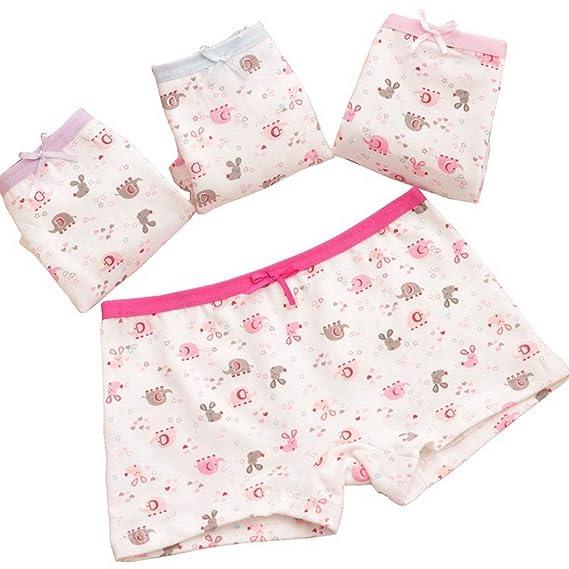 0847591350ee ARAUS Niños Calzoncillos de Algodón Boxer Bowknot Panties Braga Braguita  Bebés Pequeños Pack de 4, 2-10Años: Amazon.es: Ropa y accesorios
