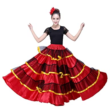 899fc22034b8 Amazon.com  OEM Spanish Dance Costume Flamenco Skirt  Clothing