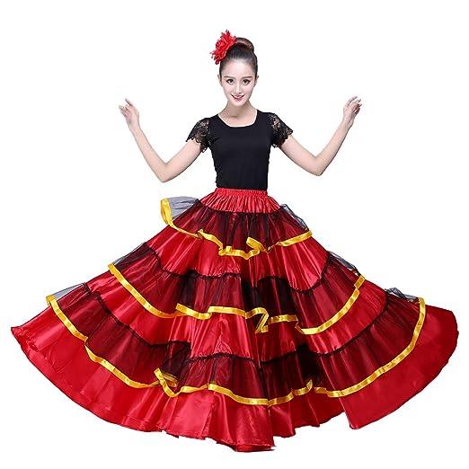 4273aacd7 Amazon.com  OEM Spanish Dance Costume Flamenco Skirt  Clothing