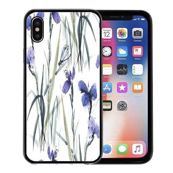 Amazon Com Semtomn Phone Case For Apple Iphone Xs Case Blue