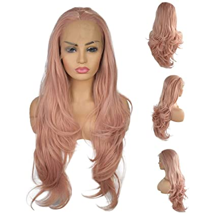 Amazon.com: YIYEZI Fashion Pink Lace Wig