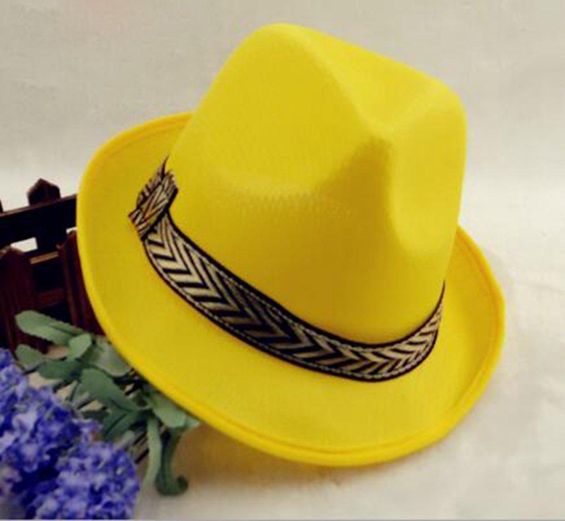 Fashion Men Women Solid Color Fedoras Jazz Casual Panama Sun Hat