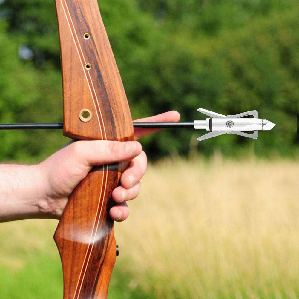 5 Unids Flecha Cabeza Flecha-Fresado Compuesto Equipo de Tiro con Arco Accesorios de Varilla de Flecha Arco y Flecha Caza Puntas de Flecha Accesorio