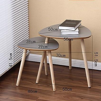 HAKN Un Set di 2 tavolini in Legno con tavolini Moderni ad ...