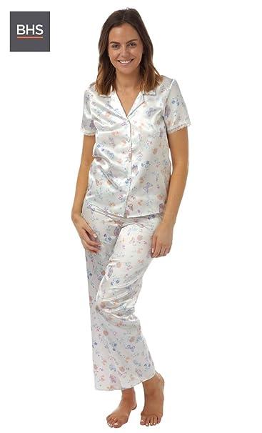 BHS - Pijama - para mujer blanco Marfil S