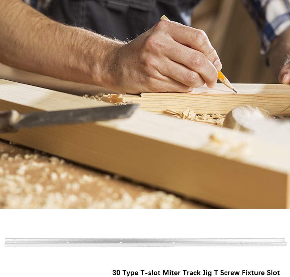 plantilla de pista de pesta/ña para fijaci/ón de tornillos en T para trabajo de madera ranura en T con pesta/ñas Riel de ranura de tipo T 1000//1200 mm