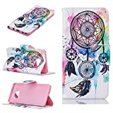 Galaxy Note 7 Case, Galaxy Note 7 Wallet Cover, Wind Chime Pu Leather Wallet Magnetic Design Mobile Cover Protect Skin Stand Case Pouch with Card Holder