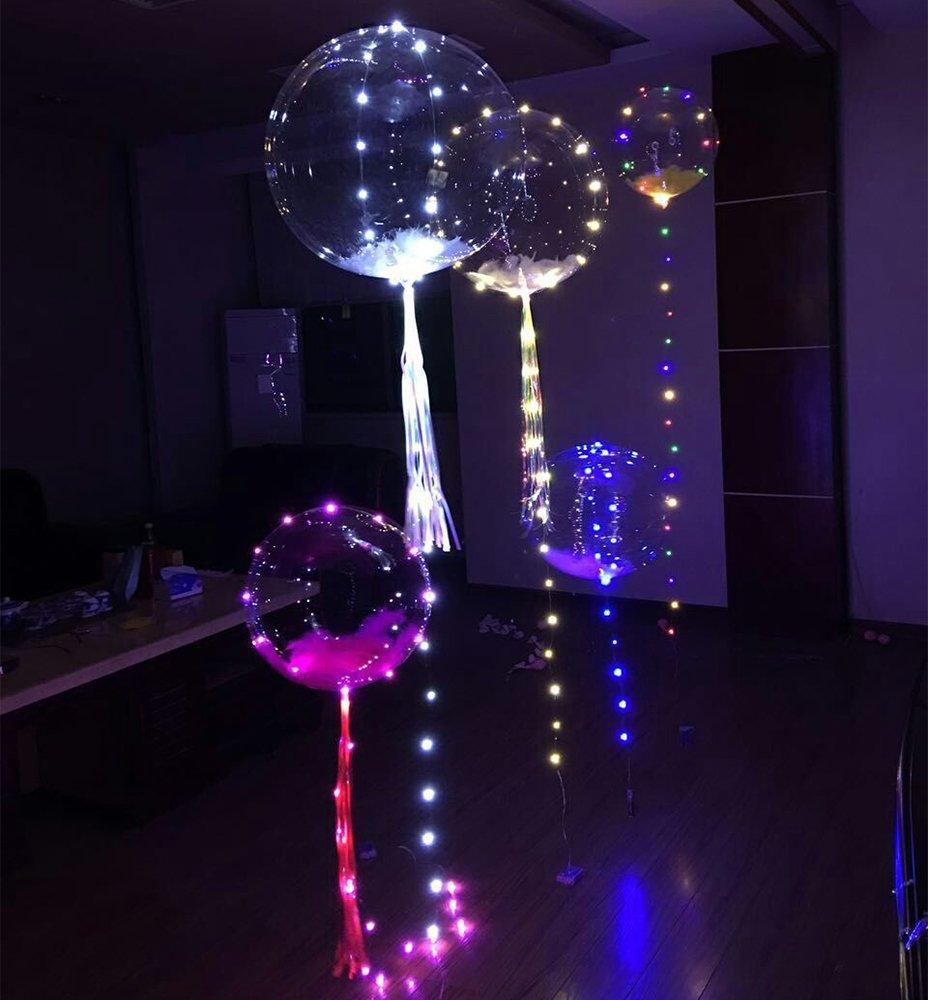 ElementDigital LED Balloon Light Up Transparent Balloons LED Multi Light for Christmas Birthday Cub Wedding and Party Battery 18 inch 10 pcs by ElementDigital (Image #4)