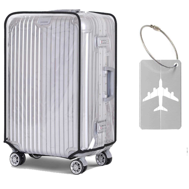 Couverture de bagage transparente, Alledomain Couverture de valise en PVC Transparent Étanche Protecteur de bagage anti-rayures Clair