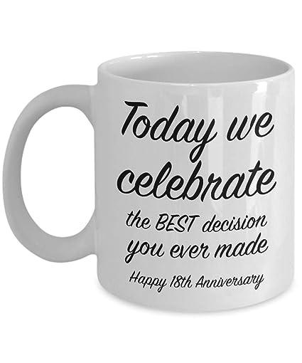 Amazoncom 18th Anniversary Gift Ideas For Him 18 Year Wedding