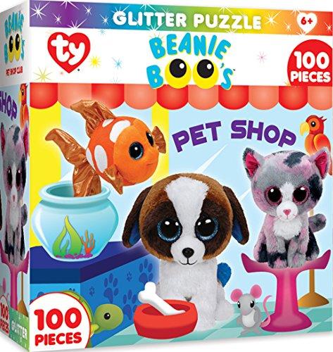 MasterPieces TY Beanie Boo Petshop Club - 100 Piece Glitter Kids Puzzle