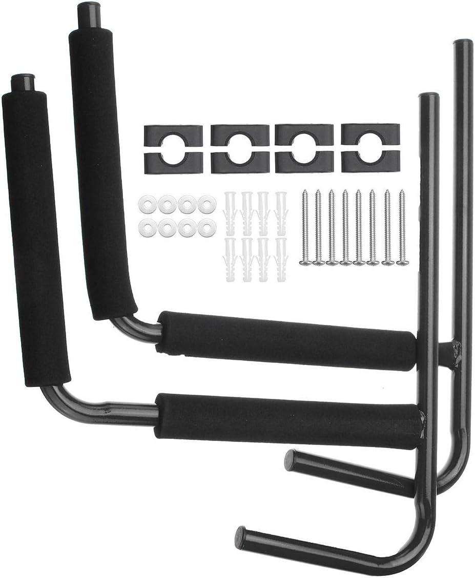 1 paire de supports de rangement muraux en acier pour pagaie bateau cano/ë kayak