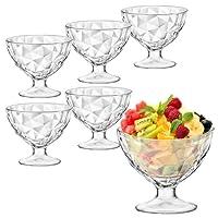 Bormioli Rocco Ice Cream Sundae Dessert Appetizer Cocktail Glasses - Set of 6