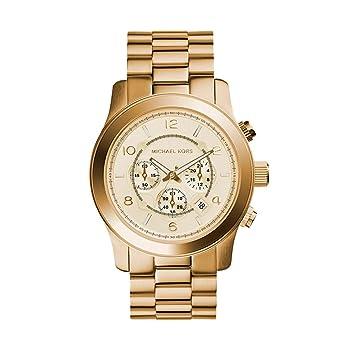 784467ddddcc Amazon.com  Michael Kors Men s Oversized Goldtone Stainless Steel Oversized  Runway Chronograph Watch  Watches