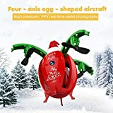Your Supermart Foldable Folding Drone with Camera Christmas Egg Aircraft WiFi FPV Remote Control Quadcopter Drone RC Helicopter Toy Christmas Gifts