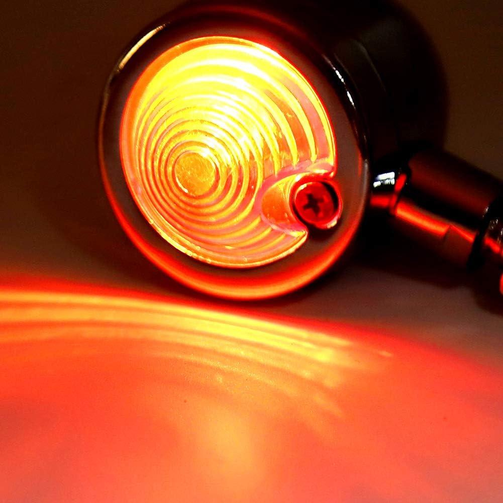 KIMISS Feu arri/ère de voiture 12 V Universel Moto LED V/élo Arri/ère Feu Stop Stop Feu De Frein Signal Lampe Feu Arri/ère Coque rouge coquillage argent