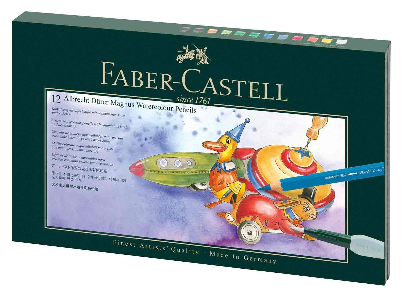 Faber-Castell 216910 Geschenkset Albrecht Dürer Magnus, 12 Stifte mit Zubehör, bunt