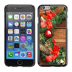 YOYO Slim PC / Aluminium Case Cover Armor Shell Portection //Christmas Holiday Wood Decorations 1301 //Apple Iphone 6