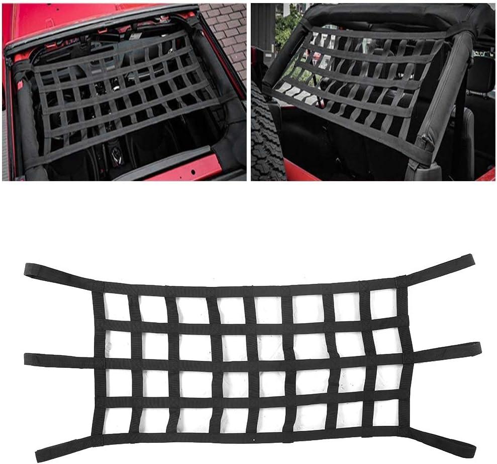 rete dei bagagli dellautomobile per Wrangler TJ JK JKU 2//4 porta 1997-2017 Qii lu Rete dellorganizzatore di stoccaggio del carico del bagagliaio
