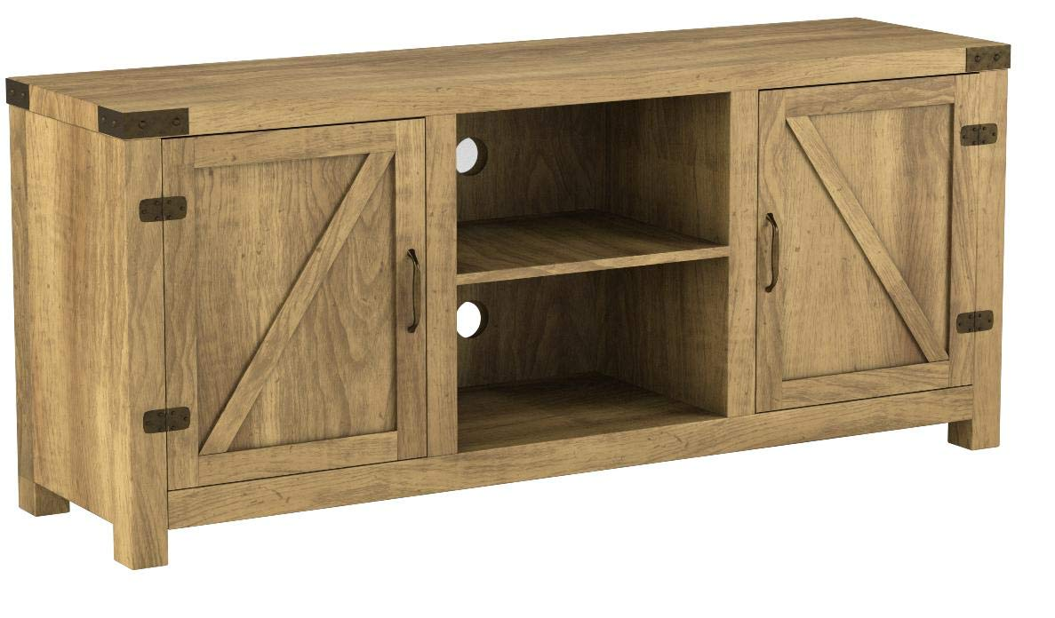 Home Accent Furnishings New 58 Inch Door Television Stand with Side Doors (Barnwood, 58X16X25) by Home Accent Furnishings