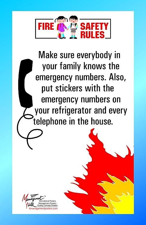 Amazon.com: Seguridad contra incendios regla, asegúrese de ...