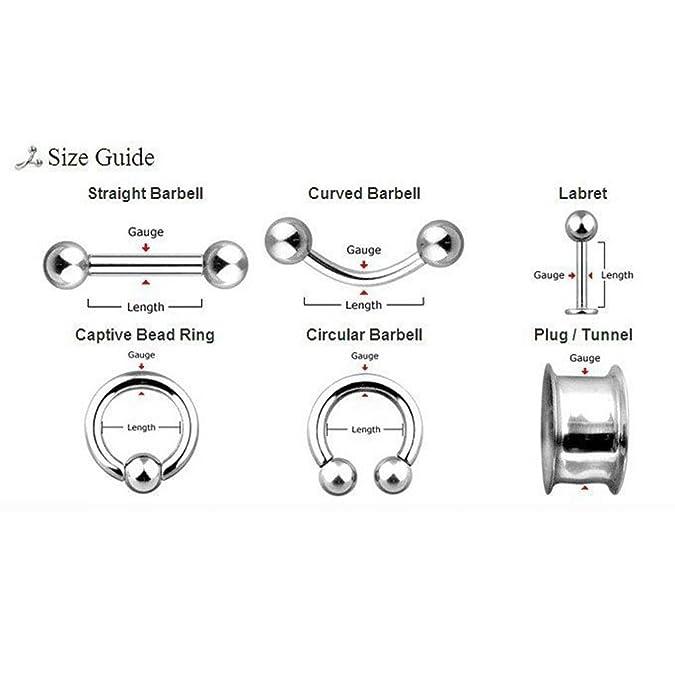 12 Piezas Dilatador Caramel Cuerno Espiral de Acrílico--Expansor Expiral de Oreja Múltiple dolores Pung 5mm: Amazon.es: Joyería