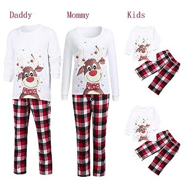 4edb9b5502ee Amazon.com  ChristmFamily Deer Pajamas Set