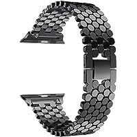 Longtips Correa de pulsera de repuesto de pulsera de cadena de malla para Apple Watch Series 1,2,3 42MM