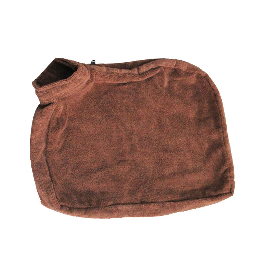 L Baoblaze Microfiber Pet Bath Towel Pocket Style Quick Drying Dog Robe Washing Tools L
