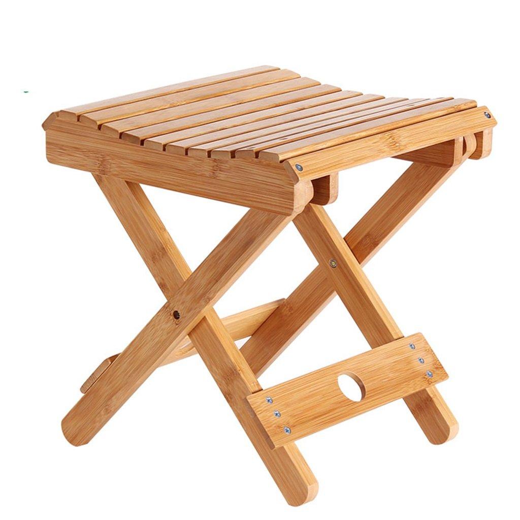 YYdy-Small wooden stool panno creativa di svago sgabello in legno massello Bambù sgabello pieghevole portatile solido Legno Home pesca esterna della sedia piccola panca (colore : # 1)