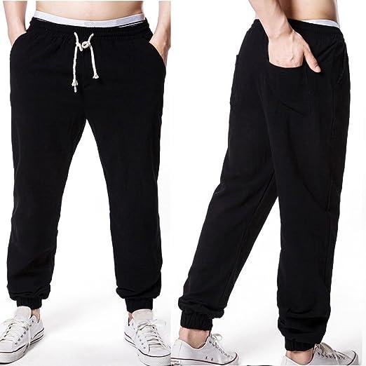 63f4f8c4d2d AMSKY❤ Men Linen Pants