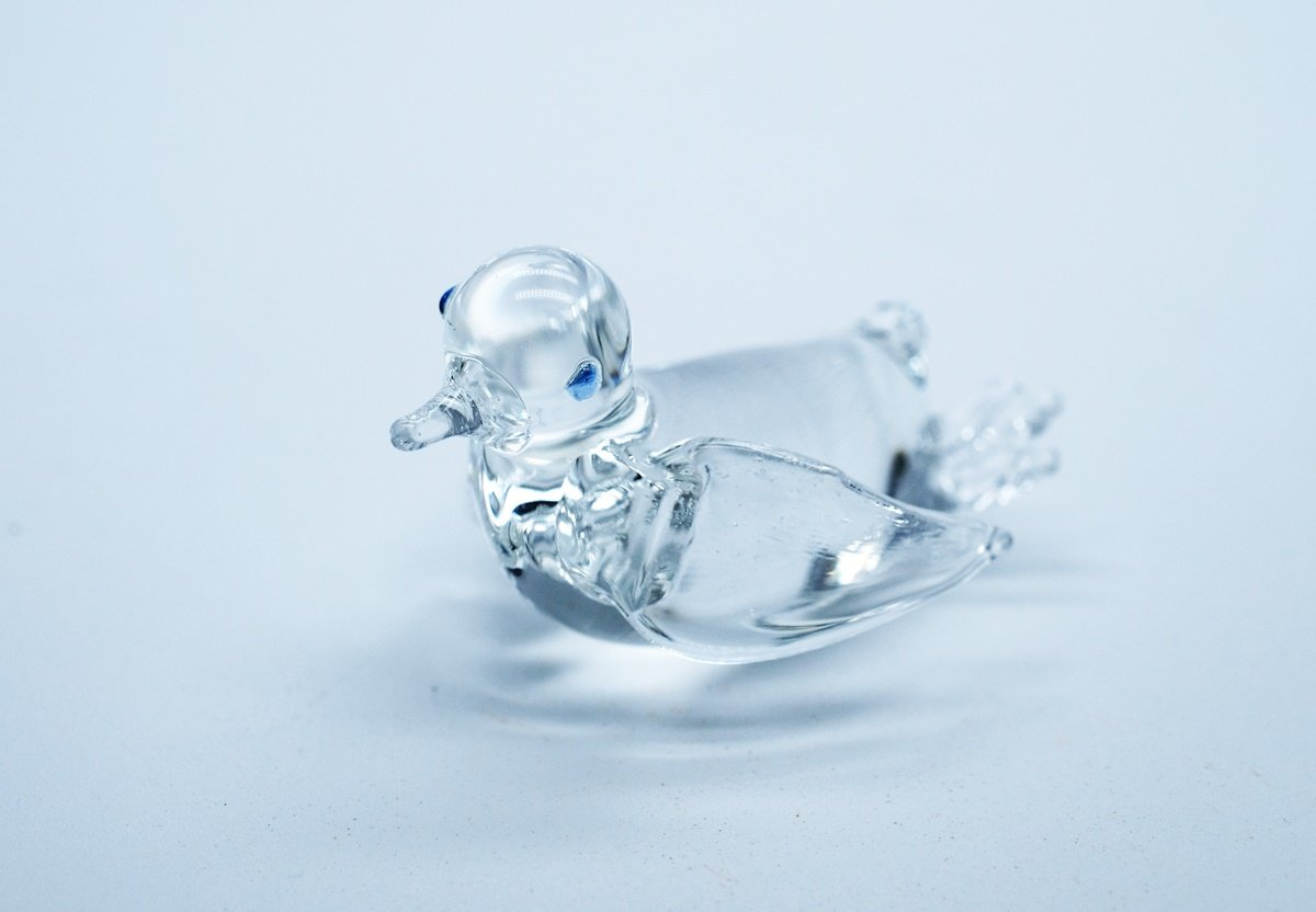 3 D Crystal Toy Penguin Hand Bowl Glass Dollhouse Miniatures Decoration CoolPrice Glass