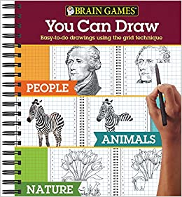 Brain Games You Can Draw 3 Books In 1 People Animals