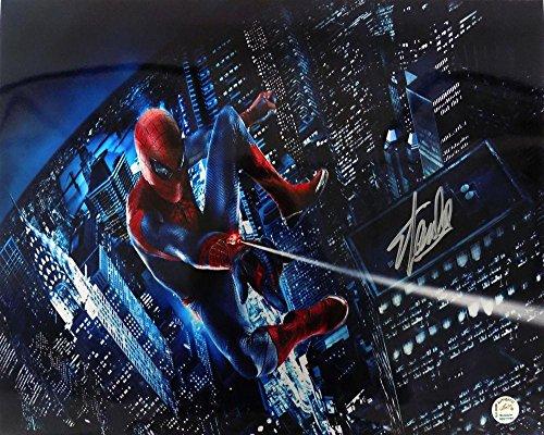 Stan Lee Marvel Comics Signed 16X20 Spider-Man Web Photo Jsa