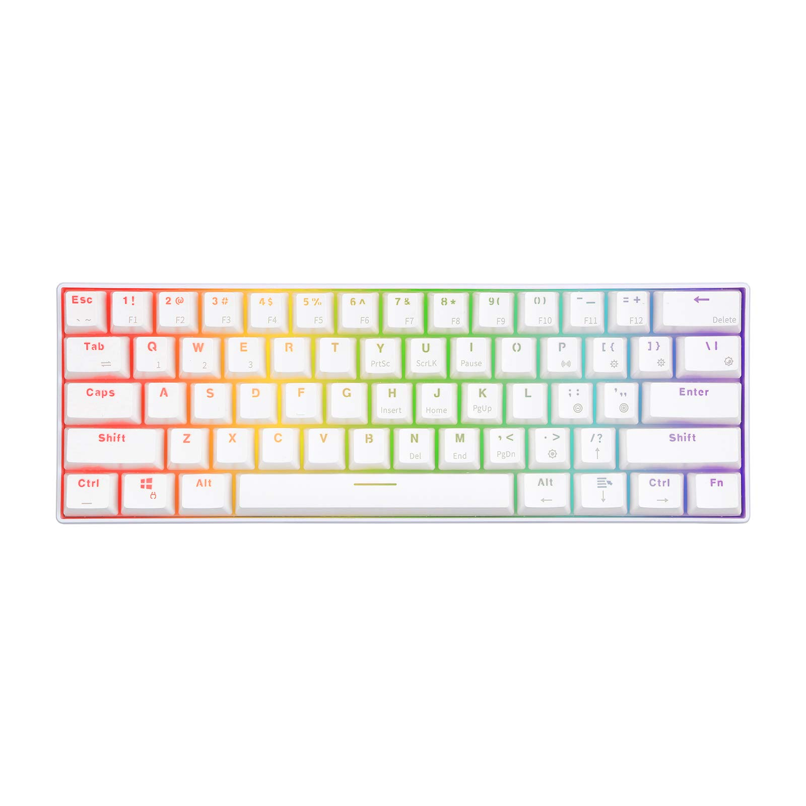 Teclado Mecanico : Royal Kludge Rk61 60% 61k Brown Switch