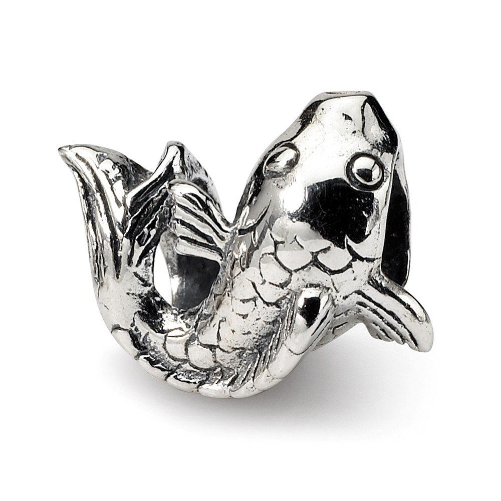 Sterling Silver Reflections Fish Bead Solid 12.73 mm 10.91 mm Themed Beads Jewelry