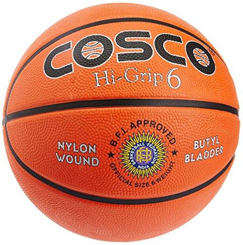Cosco Hi Grip Basket Balls, Size 6  Orange