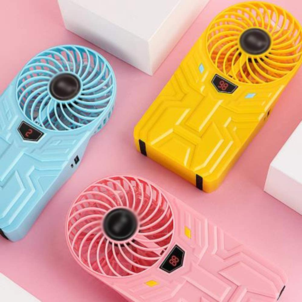 Outings Etc Office Charging Treasure Portable Outdoor Silent Fan Long-Term Direct Blowing LED Lighting Adjustable Wind Speed LMMNFS Mini USB Fan Suitable for Dormitory with 4 Files