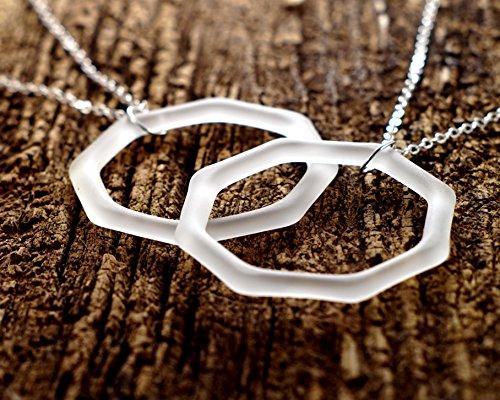 White Liqueur - Recycled St. Germain Liqueur Bottle Necklace - White Sea Glass Pendant