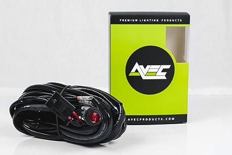 amazon com premium wiring harness kit 40 amp relay on off switch  premium wiring harness kit 40 amp relay on off switch work lights off road