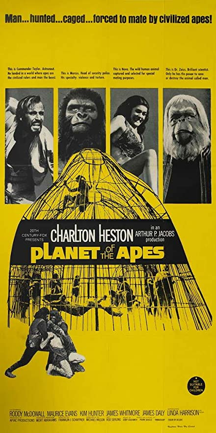 The Planet of the Apes 1968 Movie Poster Canvas Wall Art Print Roddy McDowall