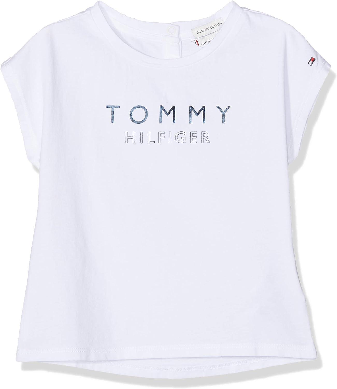 Tommy Hilfiger Foil Print Tee S//S T T-Shirt B/éb/é Fille
